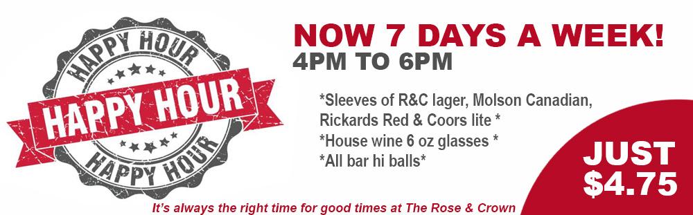 Rose & Crown Pub Happy Hour Mobile